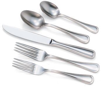 Flatware rental options from J&J Tent