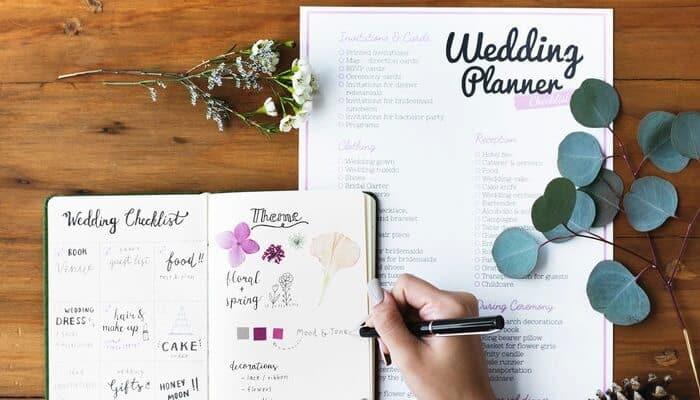 1 Year Wedding Checklist - J&J tent